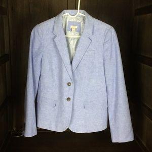 J. Crew blue linen blazer (Size 10)
